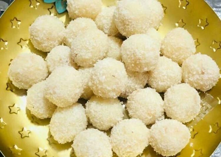 Steps to Make Favorite Coconut laddu