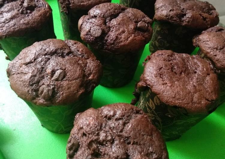 Banana Choco Muffin / Muffin Pisang Coklat Panggang Simple