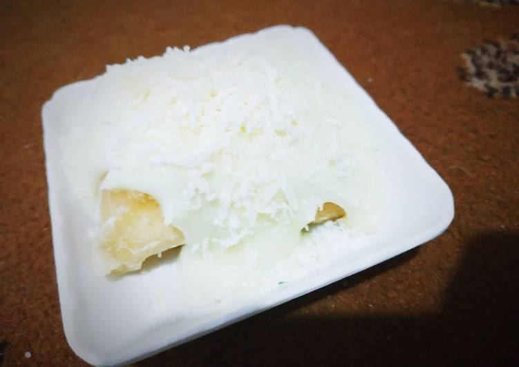 Singkong keju kukus