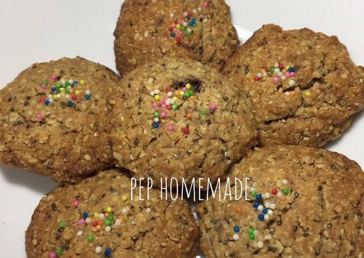 Crispy oatmeal milo cookies