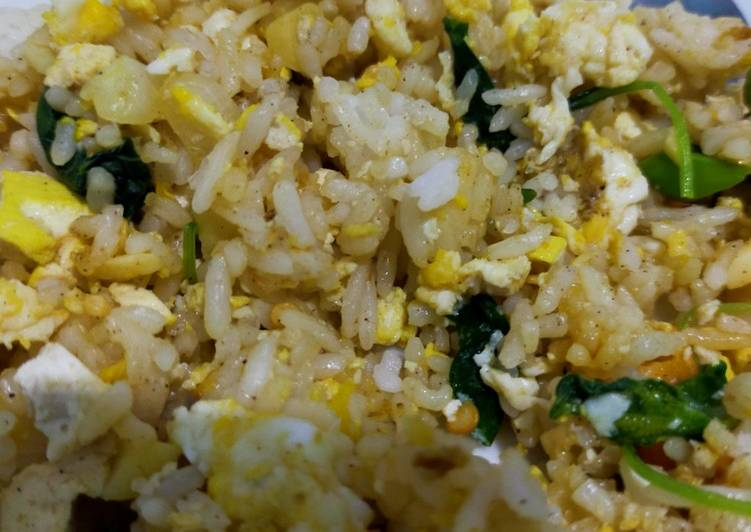 Nasi Goreng Bayem/ Healthy Fried Rice/ Nasgor Diet