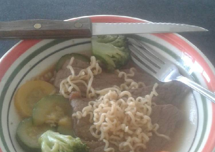 Use Food to Improve Your Mood Beef Ramen Bowl
