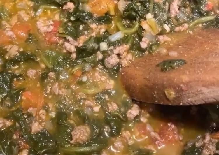 Turkish Spinach Stew