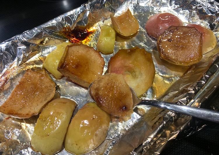 Pommes fumées au sirop d'érable