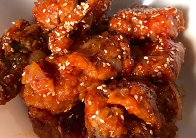 Ayam madu ala korea (Dakgangjeong)