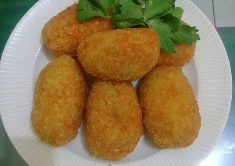 Resep Kroket kentang isi sayuran, lapis putih telur Yang Gampang Pasti Ngiler