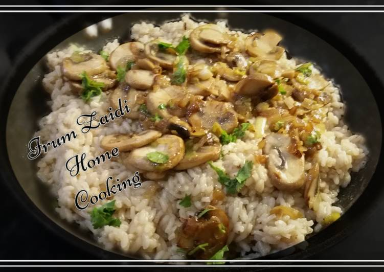 Steps to Make Favorite 🍛Risotto🍛  (Chicken & Mushroom)