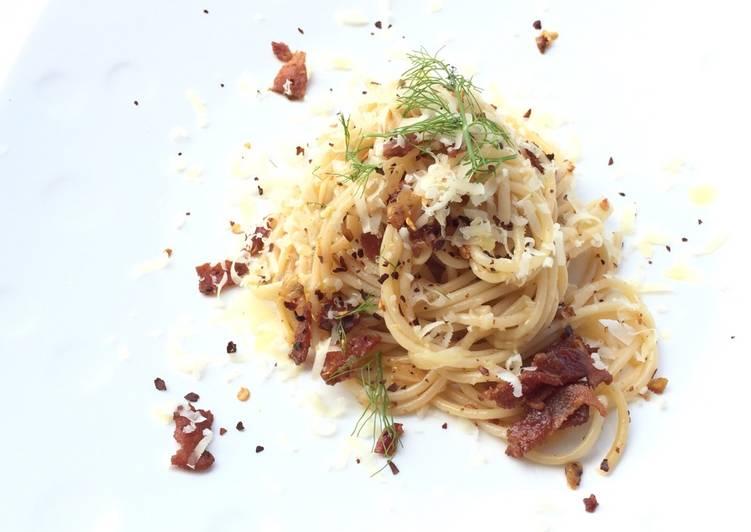 Recipe of Any-night-of-the-week Bacon Spaghetti Aglio Olio