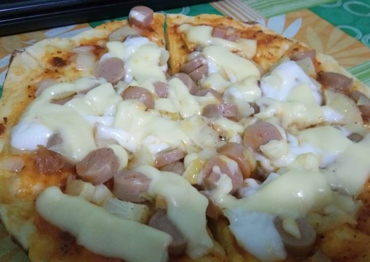 Pizza teflon Krispi