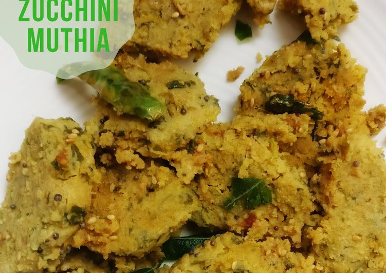 Spinach Zucchini Muthia