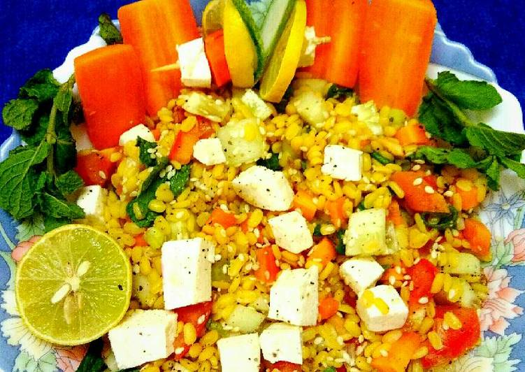 30 Minute Recipe of Refreshing Warm lentil sesame salad