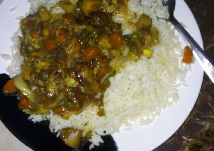 Recipe of Ultimate White rice n sauce