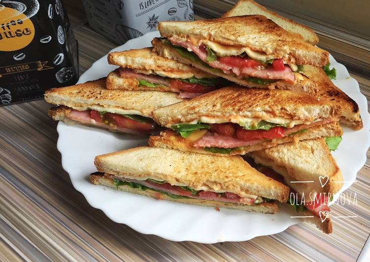 Клаб сэндвич (идеален для пикника)