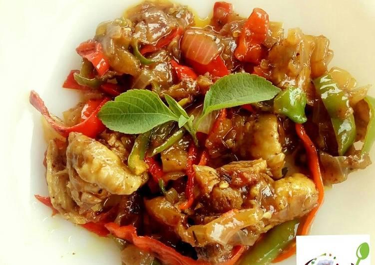 Stir fried chicken stew