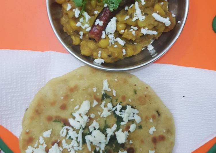 Old Fashioned Dinner Easy Homemade Chhole & homemade kulche