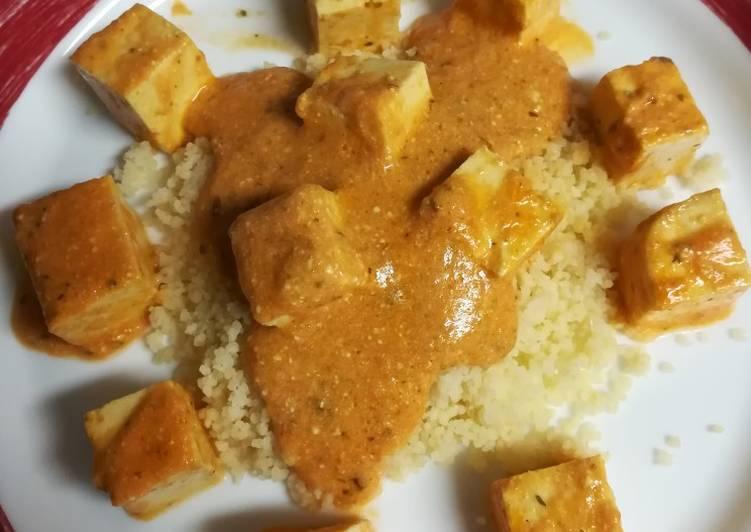 Tofu a la paella con cuscús