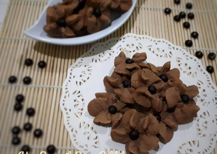 Kue Semprit Susu Coklat (3 Bahan)