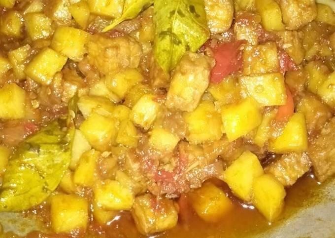 sambal goreng kentang dan tempe basah - resepenakbgt.com