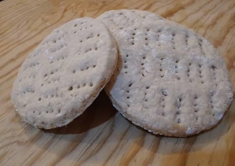 Pan de avena exprés (flatbread / English muffin)