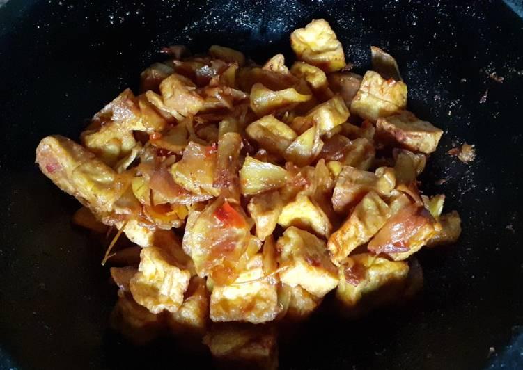 Balado kentang tahu