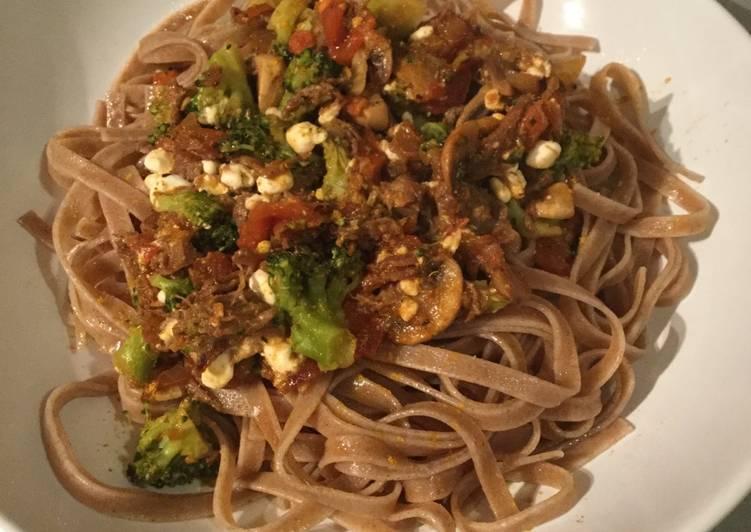 Steps to Prepare Super Quick Homemade Whole grain pasta with broccoli