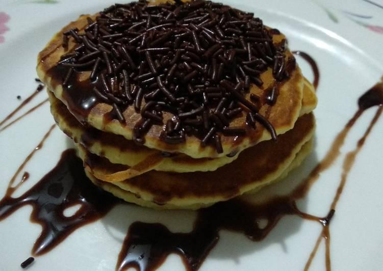 Resep Pancake sedehana ala² anak SMA #SFH#WFH Bikin Ngiler