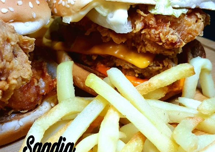 Recipe of Ultimate Zinger burger