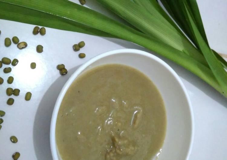 MPASI 6 bulan,pure kacang hijau