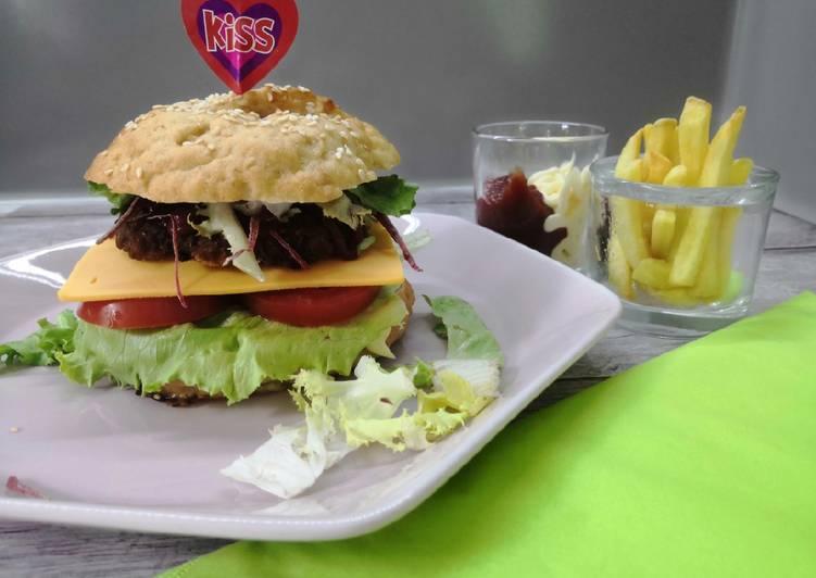Glutén és tejmentes házi hamburger recept foto