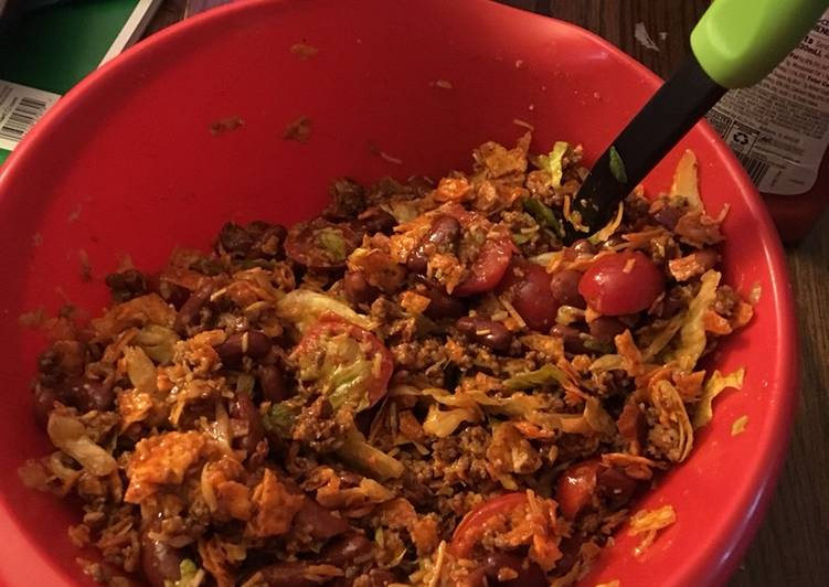 Steps to Make Homemade Moms Taco Salad