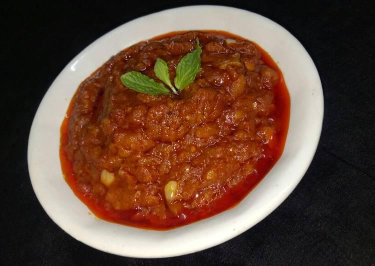 Another recipe of shezwan sauce /chutney