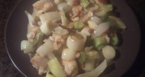 Merluza Y Gambas Con Verduras Al Curry
