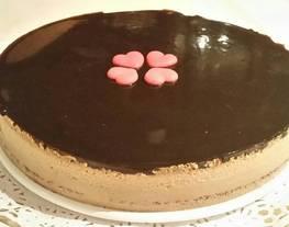 Tarta de chocolate blanco y crema de orujo Con Thermomix