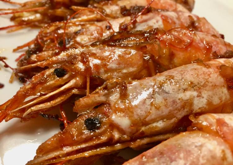 Seared Prawns with Soybean Paste