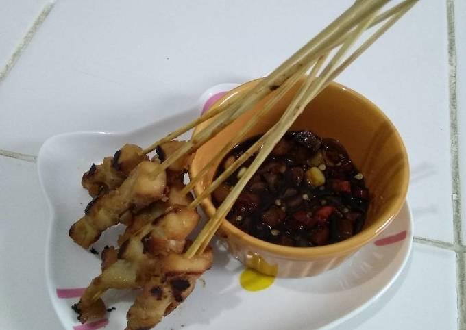 sate ayam bumbu kacang + sambel kecap - resepenakbgt.com
