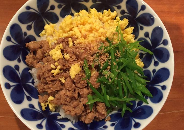 Tori Soboro Don - Chicken on Rice 鶏そぼろ丼 -can make Gluten Free
