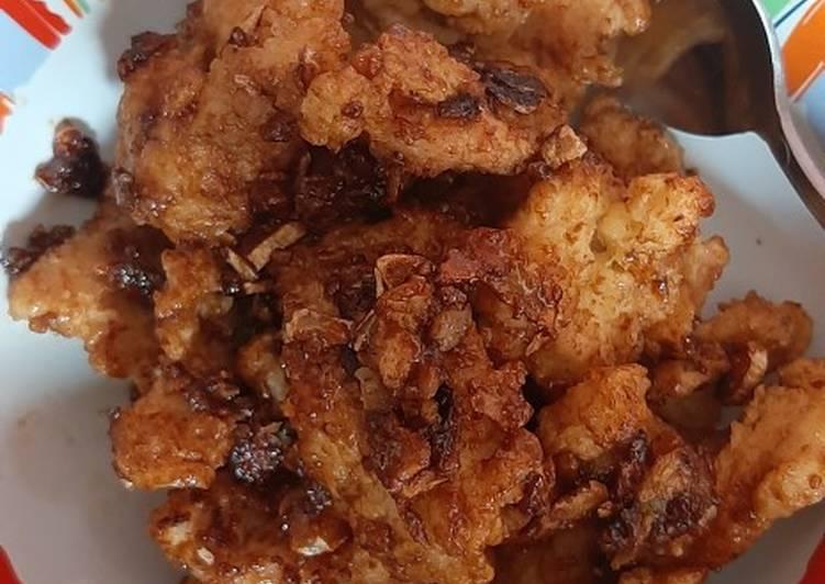 Ayam crispy bumbu saos inggris