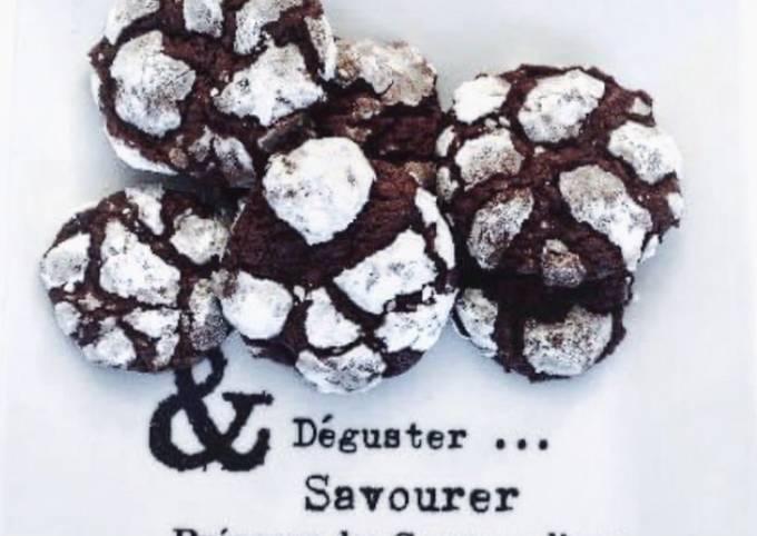 Crinkles / Petits gâteaux craquelés au chocolat