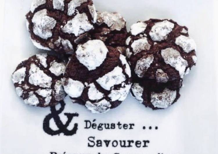 Comment faire Cuire Délicieux Crinkles / Petits gâteaux craquelés au chocolat