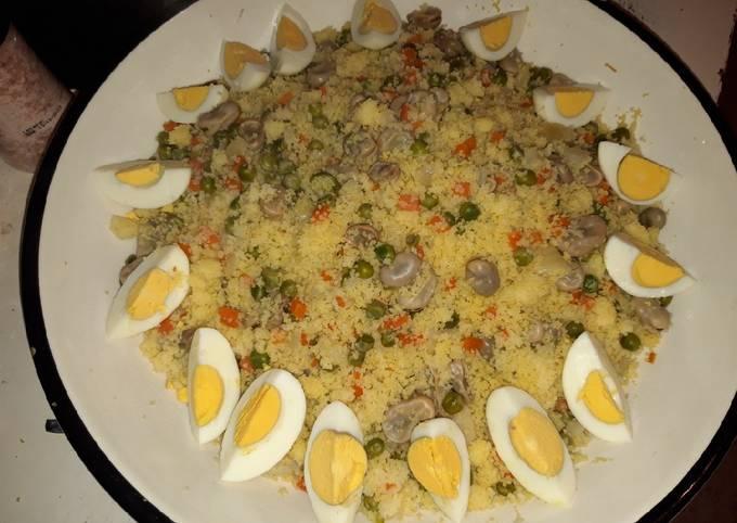Couscous kabyle aux légumes à la vapeur (tchiw tchiw)