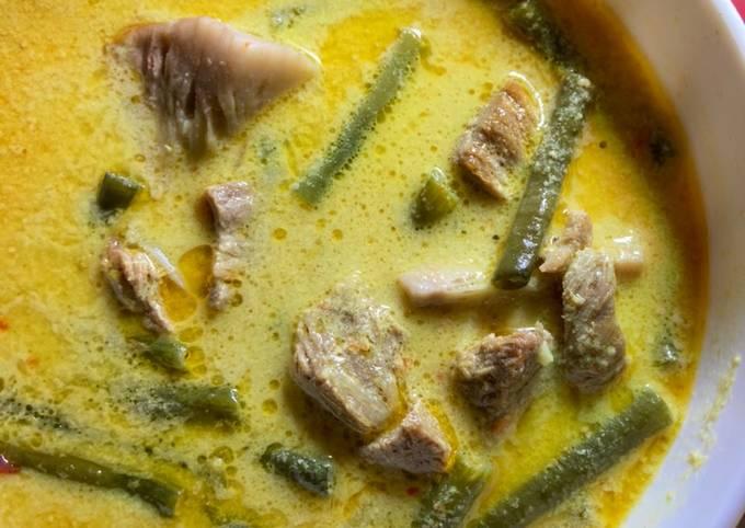 sayur lodeh kacang panjang & nangka muda (tewel) - resepenakbgt.com