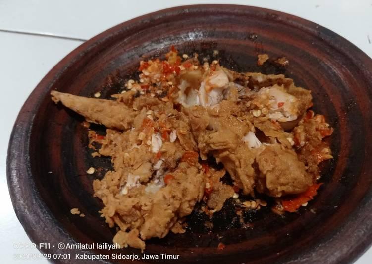 Ayam geprek hot