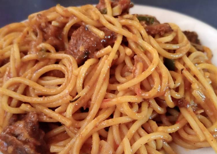 Spaghetti Bolognese with shredded Beef😋 #Cookpad2020 #LagosStat