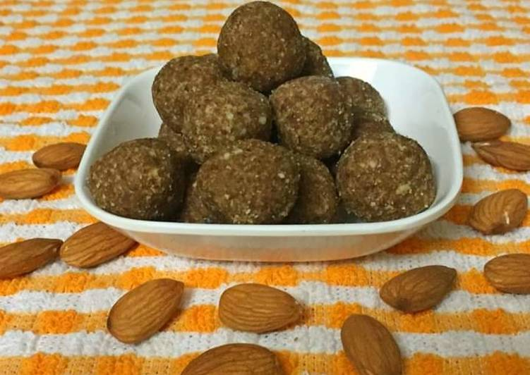 Recipe of Speedy Almond ladoos
