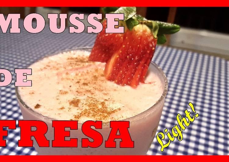 Mousse de fresa light