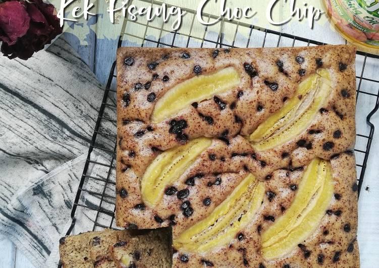 Kek pisang choc chip