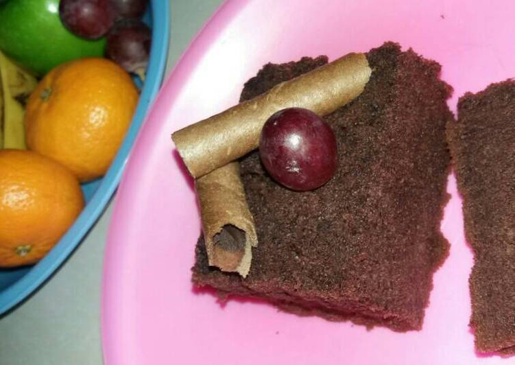 Cake chocolate (no mixer no oven)