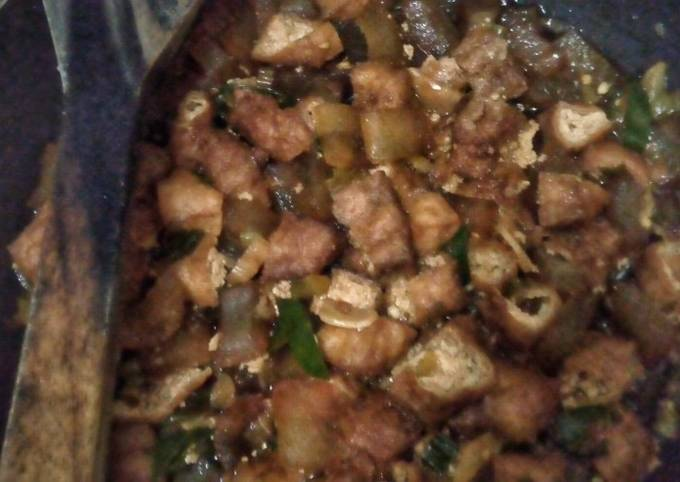 Beef Gravels and Tofu in Sweet Soy Sauce