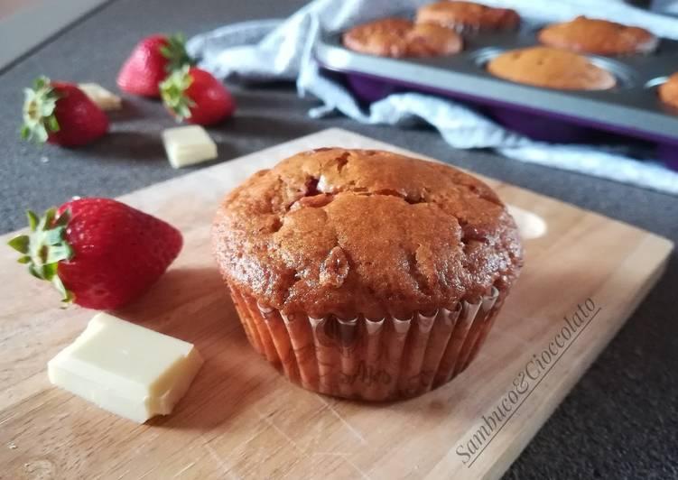 Ricetta Muffin Cioccolato Bianco e Fragole