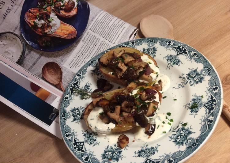recette Pommes de terre rôties au four et champignons shitaké délicieux
